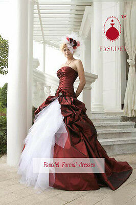 2013 New Red Wedding dress Color Accented Ball Gown Quinceanera Pageant dress