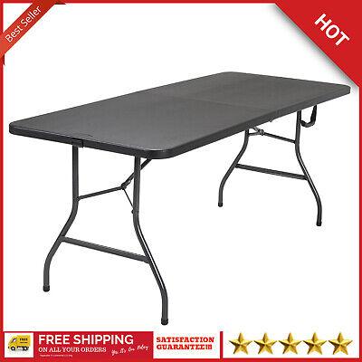 Cosco Office Centerfold Folding Table Black 6 Foot
