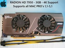 MSI Frozr Radeon HD 7950 3GB Apple MAC PRO Upgrade 1,1-5,1 + Power Cables, 4K