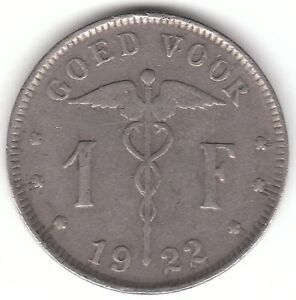 Belgium 1922 1 Franc Nickel Coin  Goed Voor Dutch - <span itemprop=availableAtOrFrom>Dukinfield, United Kingdom</span> - Belgium 1922 1 Franc Nickel Coin  Goed Voor Dutch - Dukinfield, United Kingdom