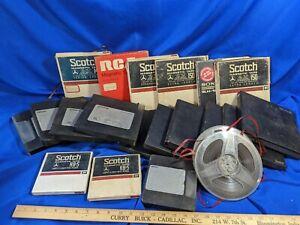 20-Reel-to-Reel-Tape-Lot-Used-Blank-Scotch-Memorex-Sony-3m-RCA-VTG