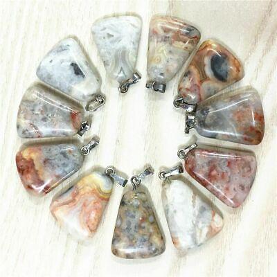50Pcs Wholesale Natural Sodalite Heart Pendant Bead 22x20x5mm