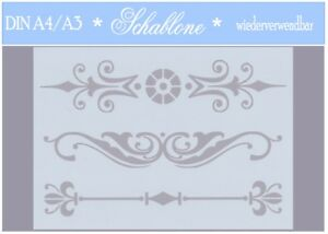 Schablone-Vintage-Shabby-A4-A3-ORNAMENT-7069