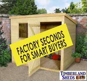 Image Is Loading Pent Garden Sheds Tanalised Seconds Fully T Amp