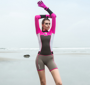 New women lady 1.5mm short diving suits water sports free dive swim surf wetsuit