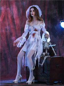 Ghost-Bride-Zombie-Corpse-Sexy-Womens-Halloween-Costume-Vampire-Fancy-Dress
