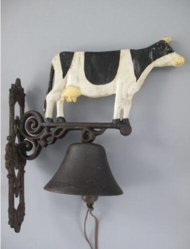 Wandglocke Gußeisen Kuh Vintage aus Gescher schwarz weiss Gusseisen Türklopfer