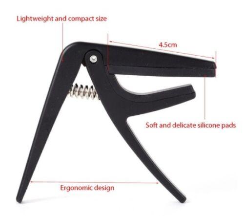 Quick Change Portable Ukulele Capo Plastic//Steel