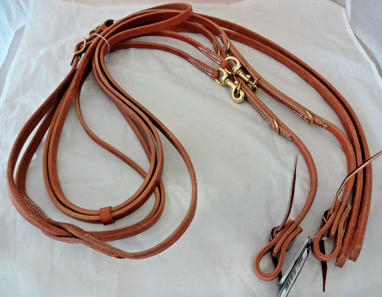 Geruomo Martingale Heruomon Oak Harness Leather cavallo Tack Berlin Split Reins nuovo