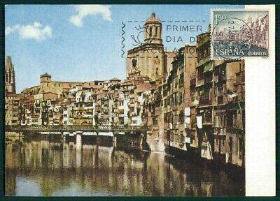 Stamps Stamps Bright Spain Mk 1964 Gerona Rio Onar Maximumkarte Carte Maximum Card Mc Cm Ed82