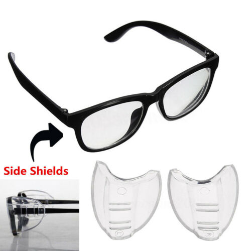 2Pcs Clear Universal Flexible Side Shields Safety Glasses Goggles Eye Protector