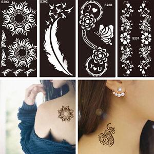 1 Sheet Black Flower Style Henna Stencil Body Art Temporary Tattoo
