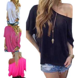 5f45330e1d54a NEW Summer Fashion Women Off Shoulder Short Sleeve Casual T-Shirt ...