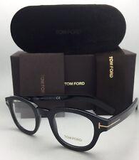 New TOM FORD Eyeglasses TF 5429 001 45-23 145 Polished Black & Gold Frames