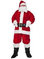 Deluxe Regal Plush Santa Claus Father Christmas Suit Fancy Dress Costume STD-XL
