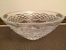 "Waterford Crystal Oval Centerpiece / Fruit Bowl  ~ 8 1/2"" Dia. x 4"" Tall"