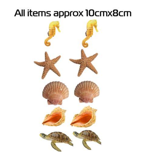 Salle de bain cuisine carrelage stickers mer vie marine shell autocollants 10 en un pack ace