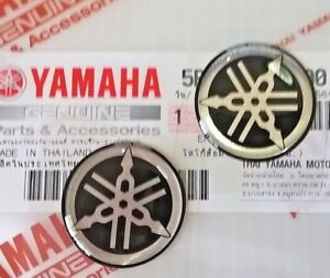 2 X Yamaha 25mm Tuning Fork Black Silver Gel Decal Sticker Badge Uk Stock Ebay