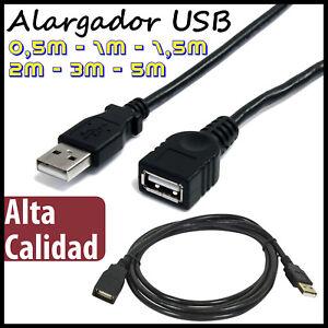 CABLE-ALARGADOR-USB-macho-hembra-0-5-1-1-5-2-3-5-metros-EXTENSION