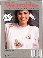 "Golden Bee Wearables to Cross Stitch Kit 60268 ""Butterflies"" For Your Shirt"