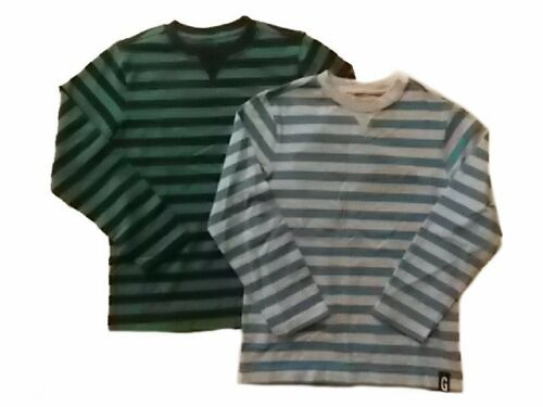 NWT Boy/'s Gymboree Hop n/' Roll blue striped long sleeve shirt ~ 4  FREE SHIP!