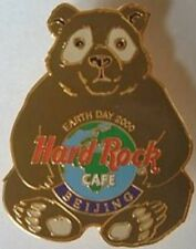 Hard Rock Cafe BEIJING 2000 EARTH DAY PIN Brown Bear Holding Globe - HRC #1113