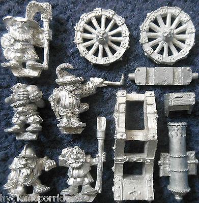 1989 Marauder Dwarf MM13 Siege Gun Cannon Citadel Warhammer War Machine Seige GW