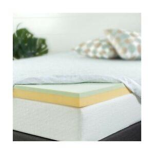 Zinus 4 Inch Green Tea Memory Foam Mattress Topper, Full ...