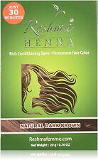 Reshma Femme Henna Semi-Permanent Hair Color, Natural Dark Brown 0.70 oz