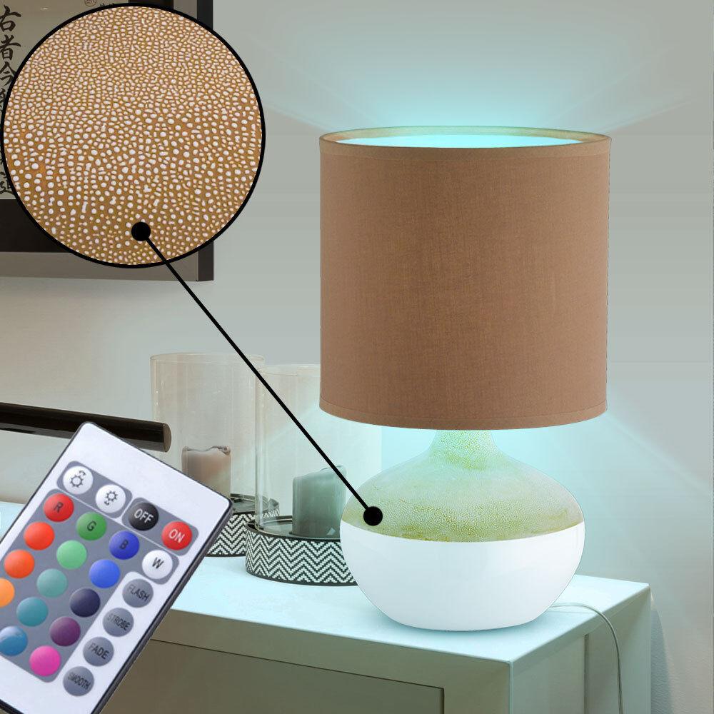 RGB LED lampe table d'écriture dimmer télécommande projecteur spot lampe lampe lampe braun f57411