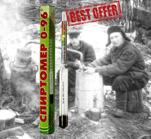 Alcohol Meter Household Hydrometer Areometer Spirits Tester Alcoholmeter 0-96