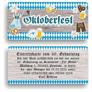 Perfekt Das Bild Wird Geladen Einladungskarte Geburtstag Geburtstagskarte Oktober  Oktoberfest Wiesn Ozapft E21