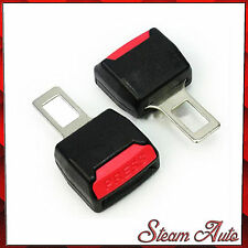 2x CAR SEAT BELT CLIP BUCKLE EXTENDER SUPPORT SAFETY ALARM STOPPER