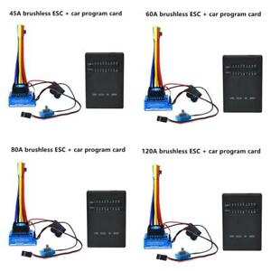 Details about RC Cars 45A 60A 80A 120A ESC Brushless Waterproof Motor  Programming Card DI