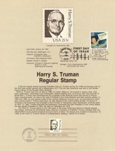 USPS-Souvenir-Page-8404-Harry-Truman-w-Truman-Wins-CTC-w-FD-Cancel