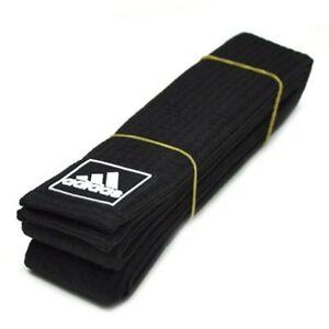 NEW adidas Martial Arts BLACK Belt SATIN Karate Belt CHAMPION Taekwondo Judo