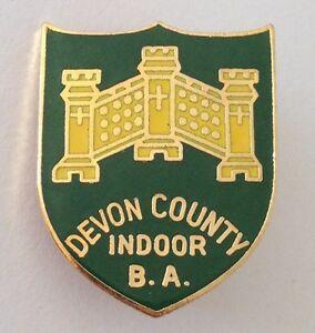 Devon-County-Indoor-Bowling-Association-Club-Badge-Pin-Rare-Vintage-M15