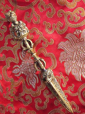"TIBETAN BUDDHIST 8""  BRONZE DORJE WRATHFUL VAJRAKILAYA TANTRIC PHURBA KILA NEPAL"