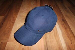 NWT NIKE UNISEX METAL SWOOSH ADJUSTABLE BASEBALL CAP HAT NAVY BLUE ... 391538fd3da