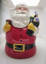 Christmas Holiday Cookie Jar J. Wecker Frisch Dear Santa Canterbury Potteries