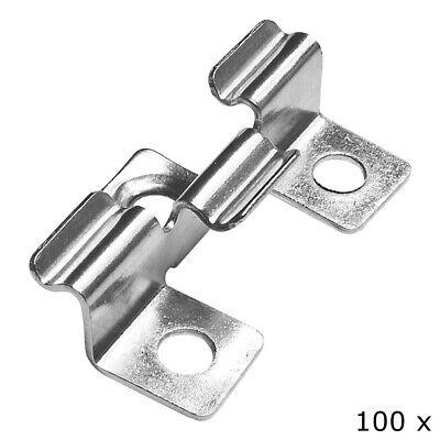 100 Edelstahl Clips Terrassenclips Befestigungsklammern Terrassendielen 6mm V2Ao