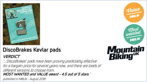 P20.11 A10.11 E10.11 Made With Kevlar DH DiscobB Tektro Auriga Disc Brake Pads
