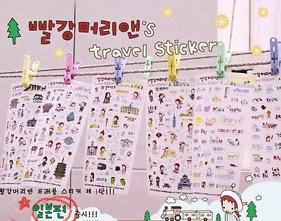 Anne's Travel Diary Deco Sticker 6 Sheets -JAPAN- NEW
