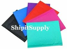 1 500 0 6x10 Black Blue Camo Pink Purple Red Or Teal Poly Bubble Mailers
