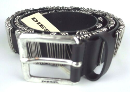 "Diesel Cuir Designer Ceinture ""betion"" leather belt 80 cm 00sjy8 #05 afficher le titre d'origine"