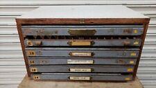 Vintage Letterpress Cabinet With Type 3
