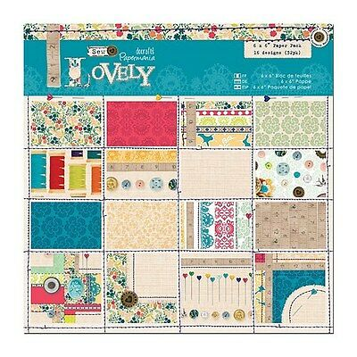 """PAPERMANIA LOVELY SAMPLE PAPER PACK 6"""" X 6"""" X 16 PAPERS"""