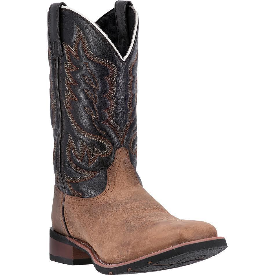 Laredo Men's Sand Chocolate Montana Square Toe Western Boot 7800