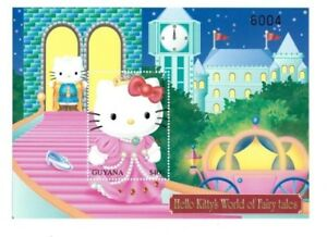 Guyana 2001 - Hello Kitty - Cinderella -  Stamp Souvenir Sheet - MNH