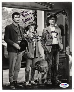BEVERLY-HILLBILLIES-MAX-BAER-DONNA-DOUGLAS-BUDDY-EBSEN-SIGNED-8x10-PHOTO-PSA-DNA
